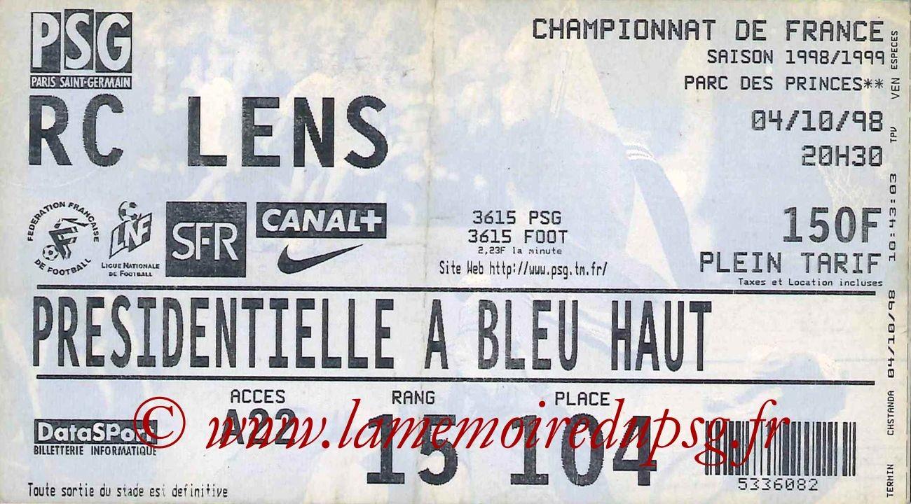 1998-10-04  PSG-Lens (8ème D1)