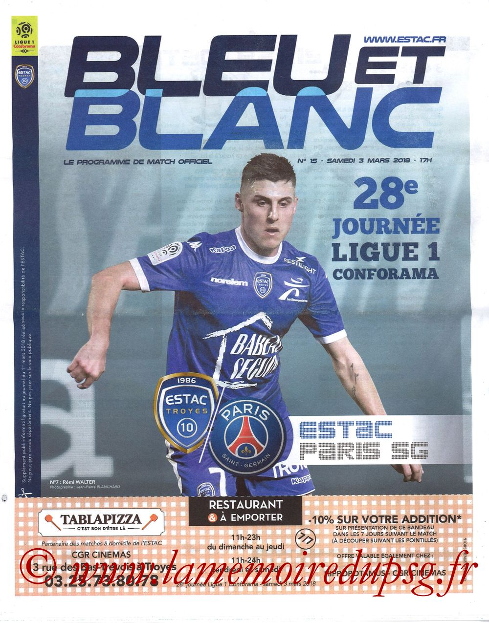 2018-03-03  Troyes-PSG (28ème L1, Bleu et Blanc N°15)