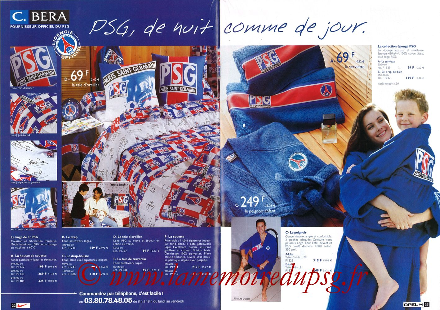 Catalogue PSG - 1998-99 - Pages 22 et 23