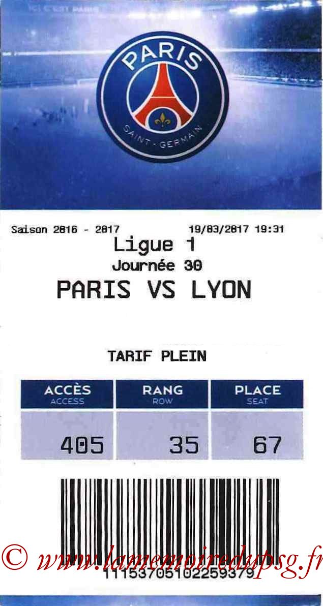 2017-03-19  PSG-Lyon (30ème L1, E-ticket)