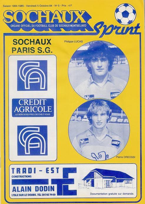 1984-10-19  Sochaux-PSG (13ème D1, Sochaux Sprint N°5)
