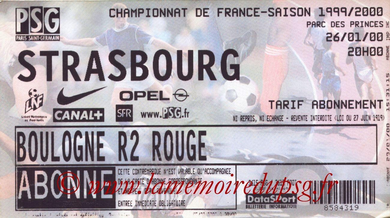 2000-01-26  PSG-Strasbourg (23ème D1)
