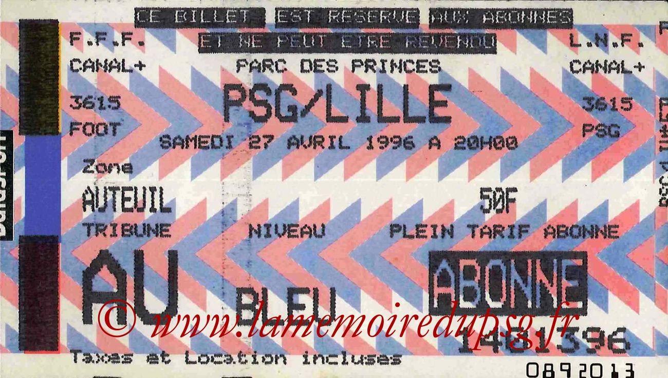 1996-04-27  PSG-Lille (36ème D1, bis)