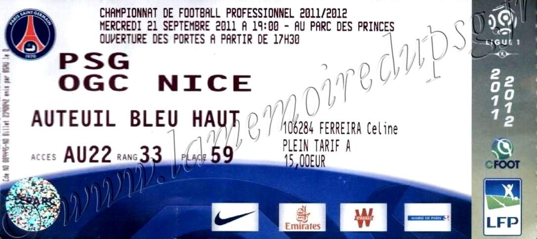 2011-09-21  PSG-Nice (7ème L1)