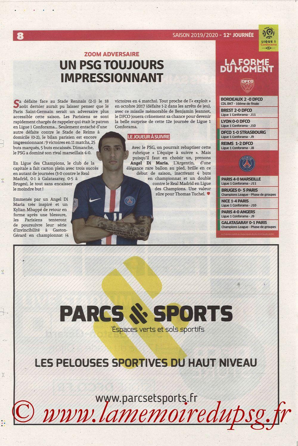 2019-11-01  Dijon-PSG (12ème L1, Chouett Infos) - Page 08