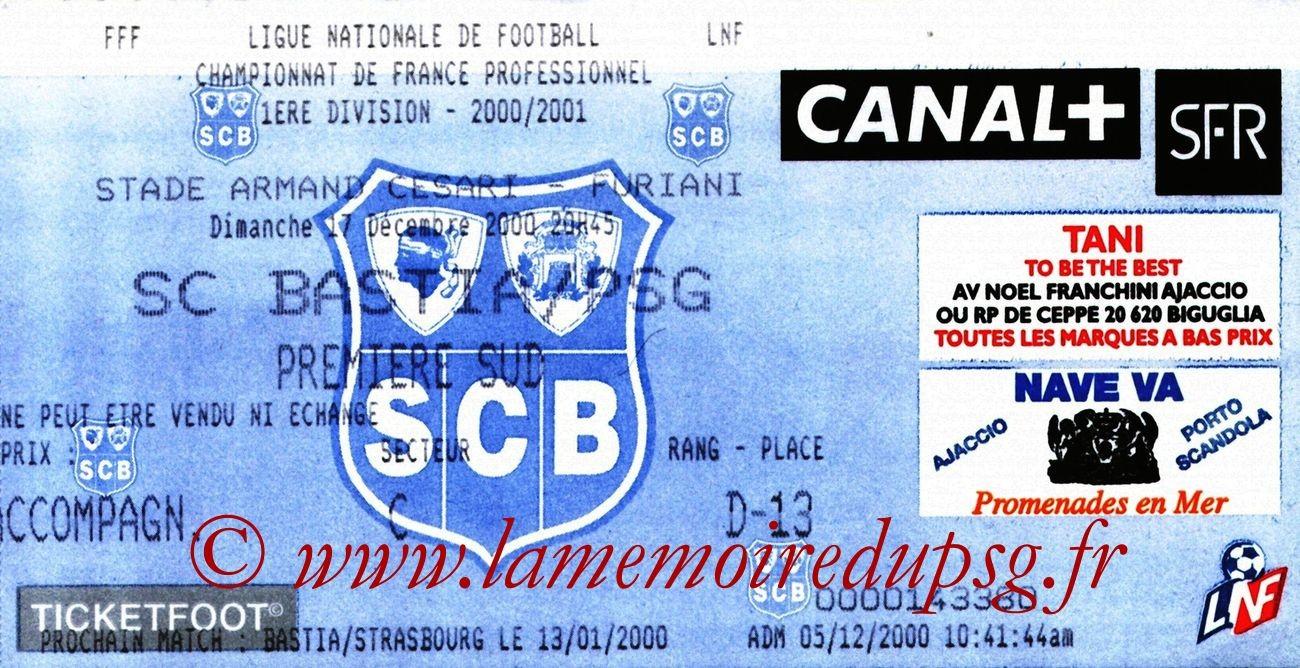 2000-12-17  Bastia-PSG (21ème D1)