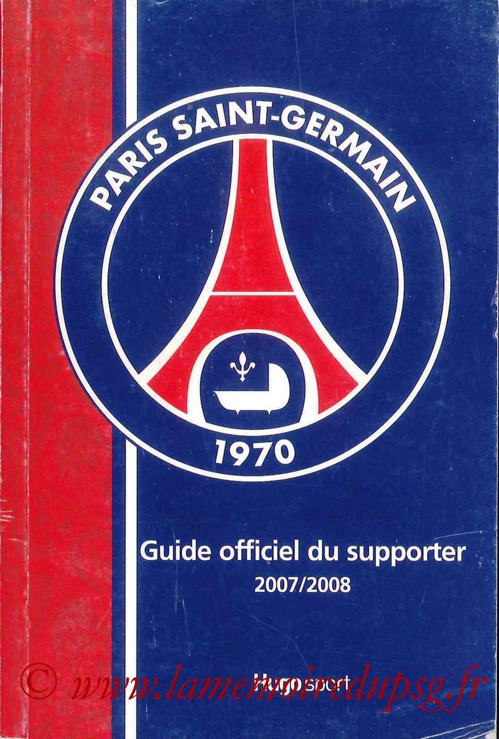 2007-08 - Guide de la Saison PSG - Couverture