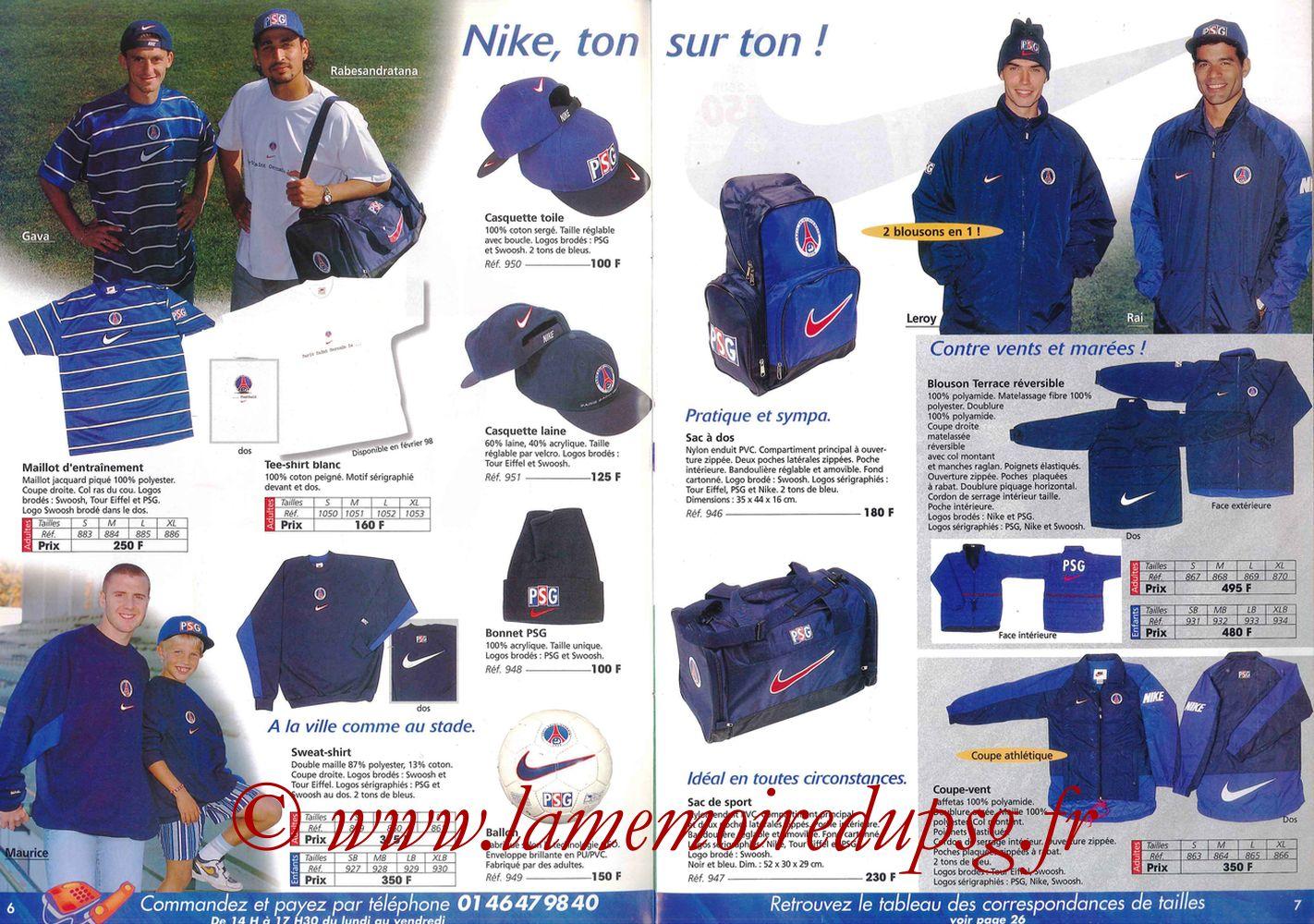 Catalogue PSG - 1997-98 - Pages 06 et 07