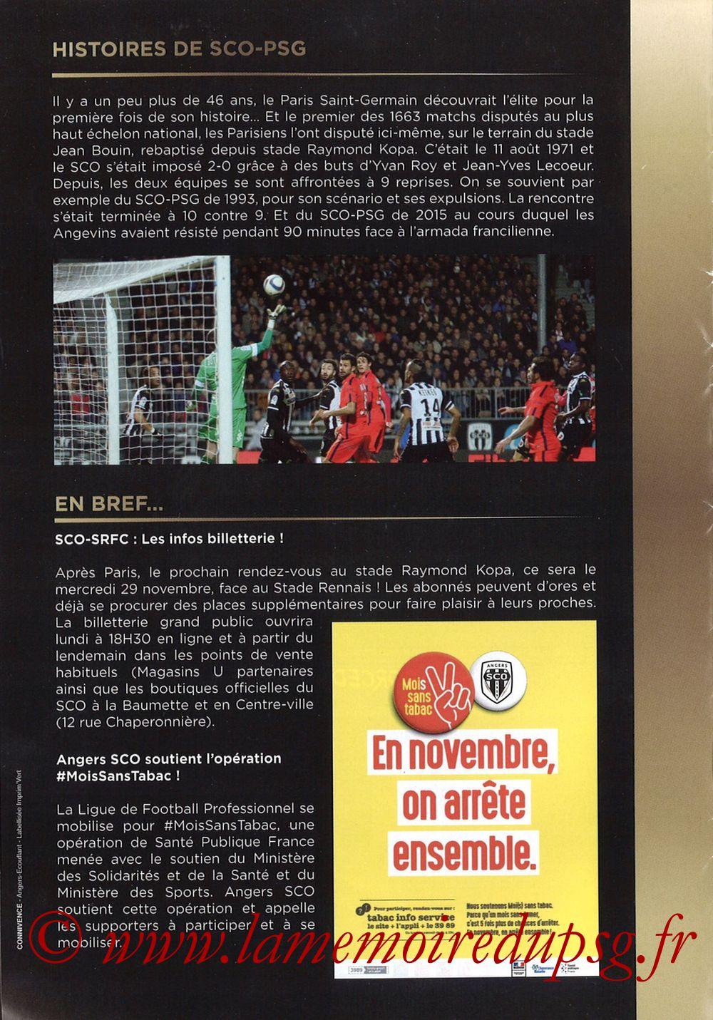 2017-11-04  Angers-PSG (12ème L1, Programme officiel) - Pages 10