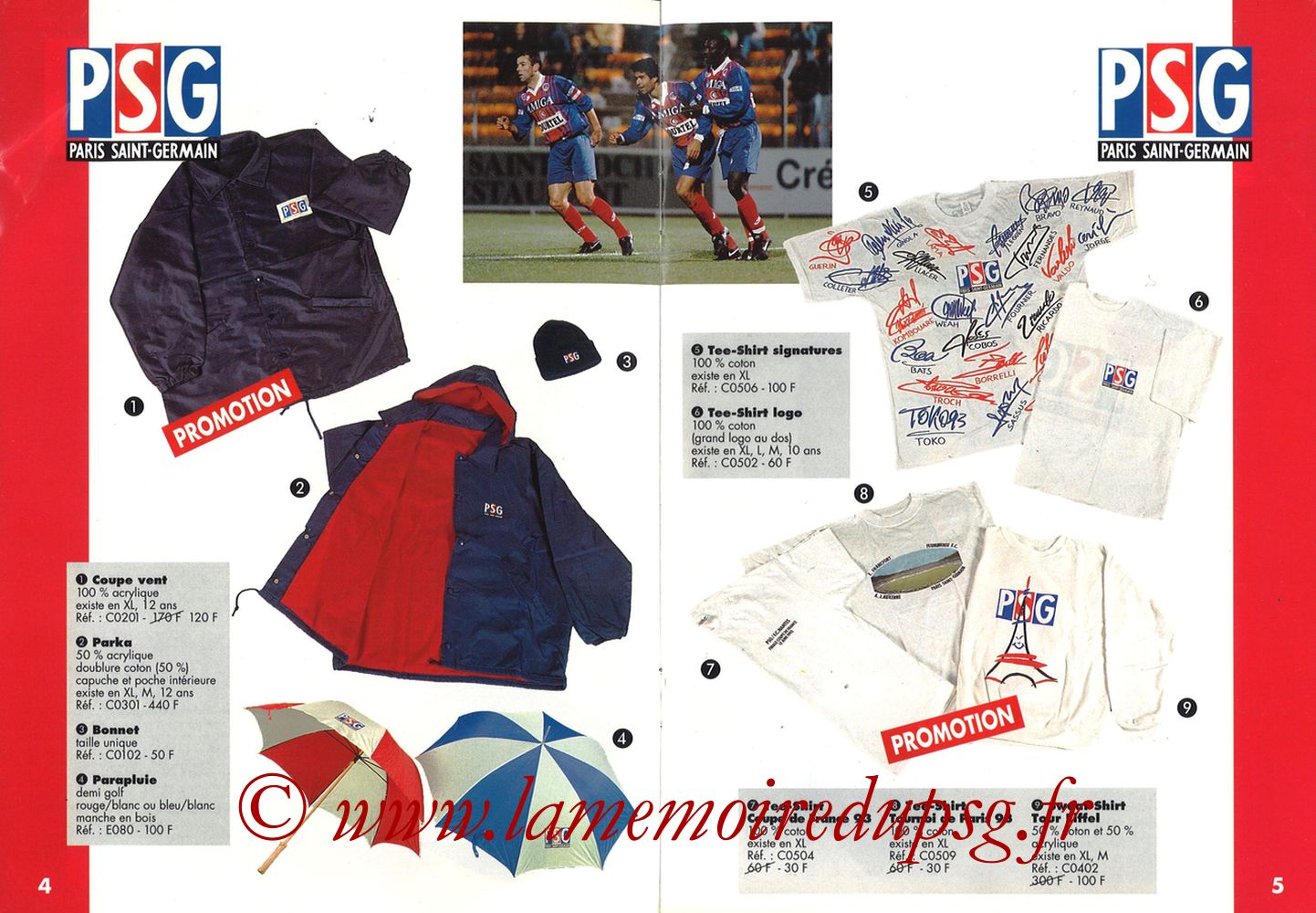 Catalogue PSG - 1993-94 - Pages 08 et 09