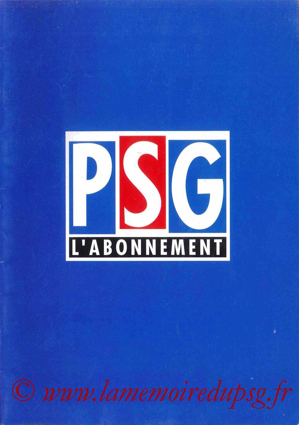 1998-99 - Guide de la Saison PSG - Couverture