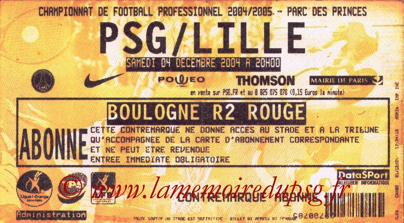2004-12-04  PSG-Lille (17ème L1, bis)