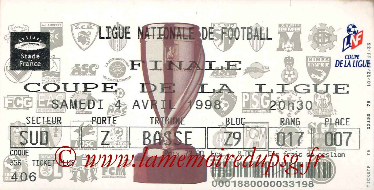 1998-04-04  PSG-Bordeaux (Finale CL au Stade de France)