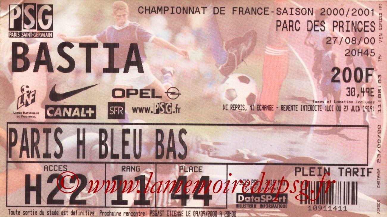 2000-08-27  PSG-Bastia (5ème D1)