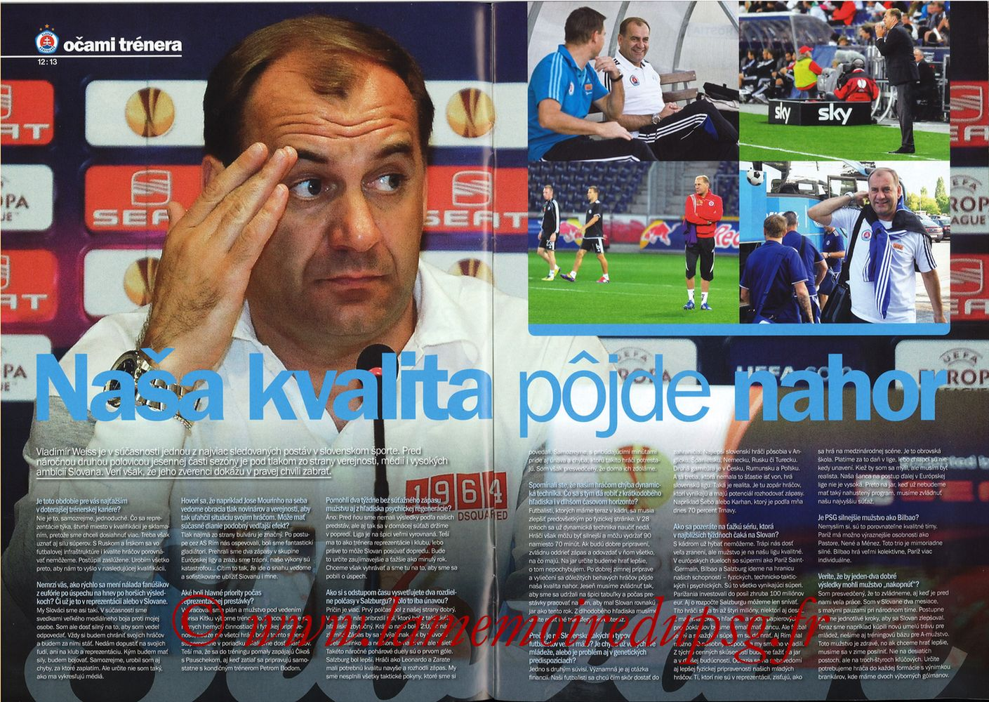 2011-10-20  Slovan Bratislava-PSG (3ème C3, Slovan N°4) - Pages 12 et 13