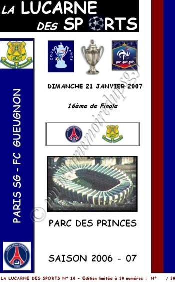 2007-01-21  PSG-Gueugnon (16ème Finale CF, La lucarne des sports N°10)