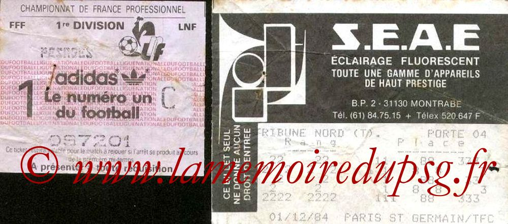 1984-12-01  Toulouse-PSG (19ème D1)