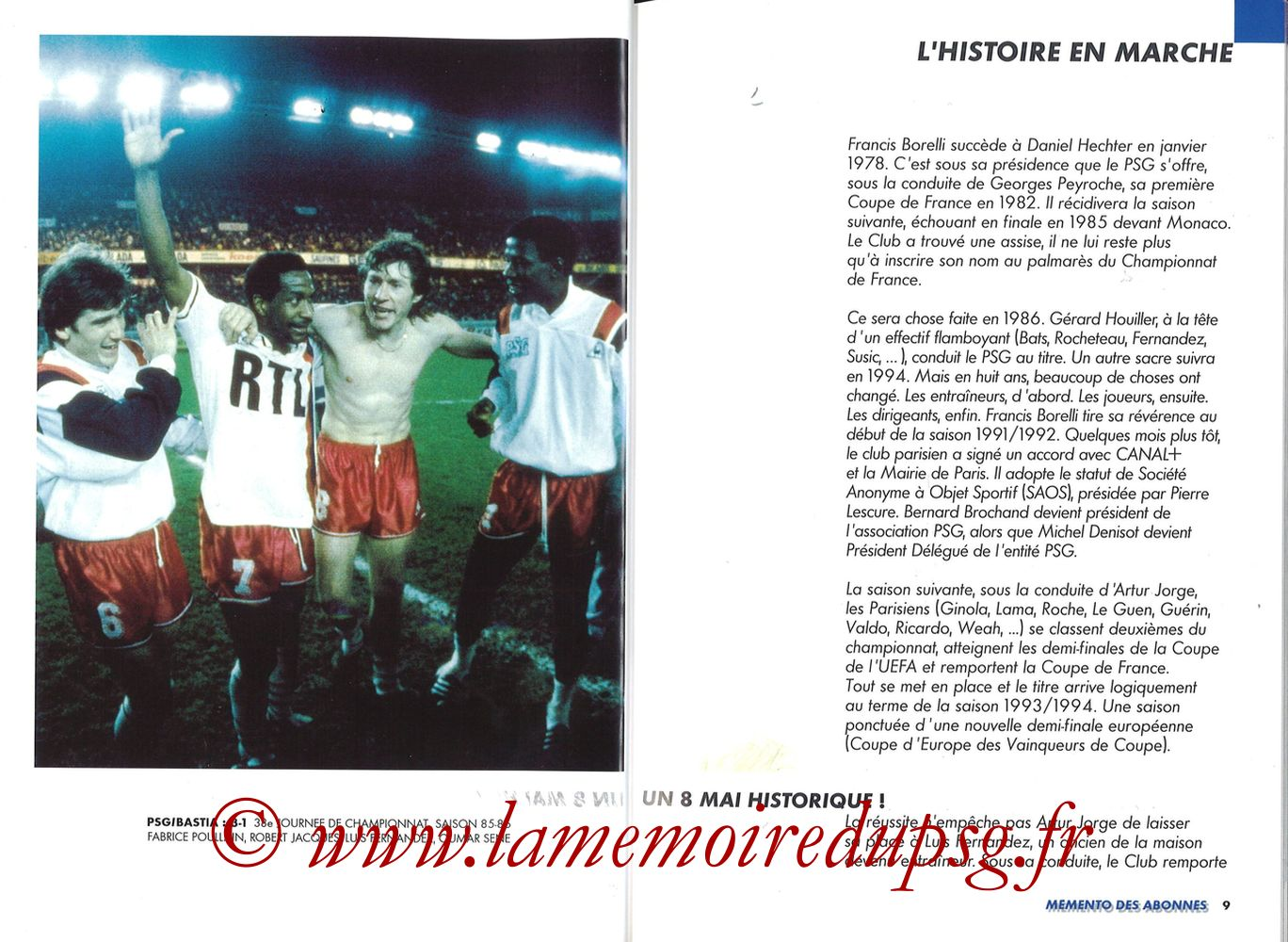 1999-00 - Guide de la Saison PSG - Pages 08 et 09