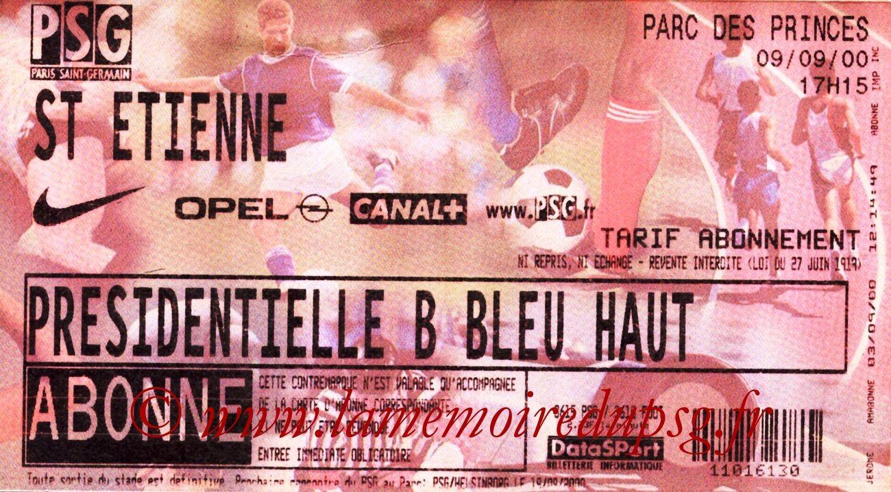 2000-09-09  PSG-Saint Etienne (7ème D1)