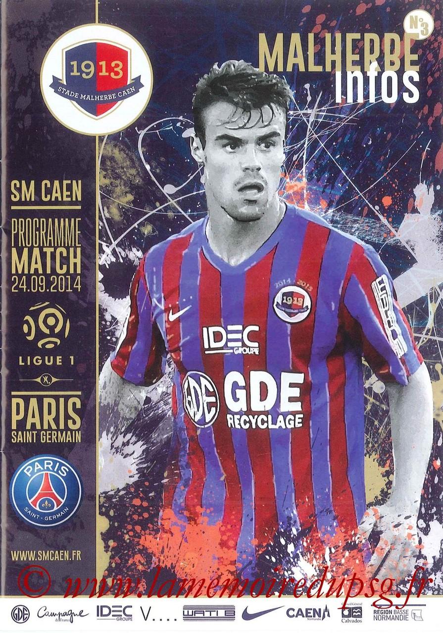 2014-09-24  Caen-PSG (7ème L1, Malherbe Infos N°3)