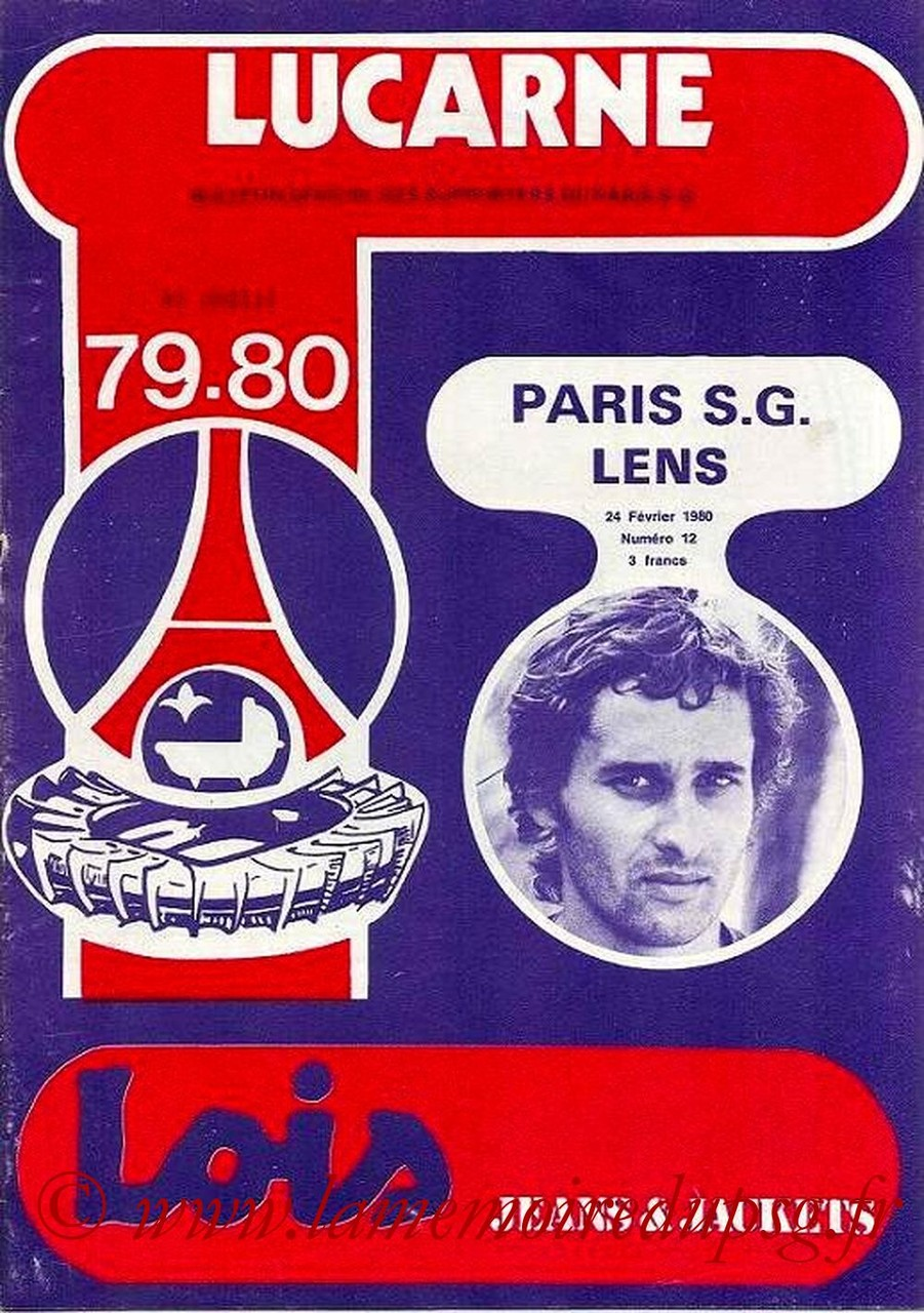 1980-02-24  PSG-Lens (26ème D1, Lucarne N°12)