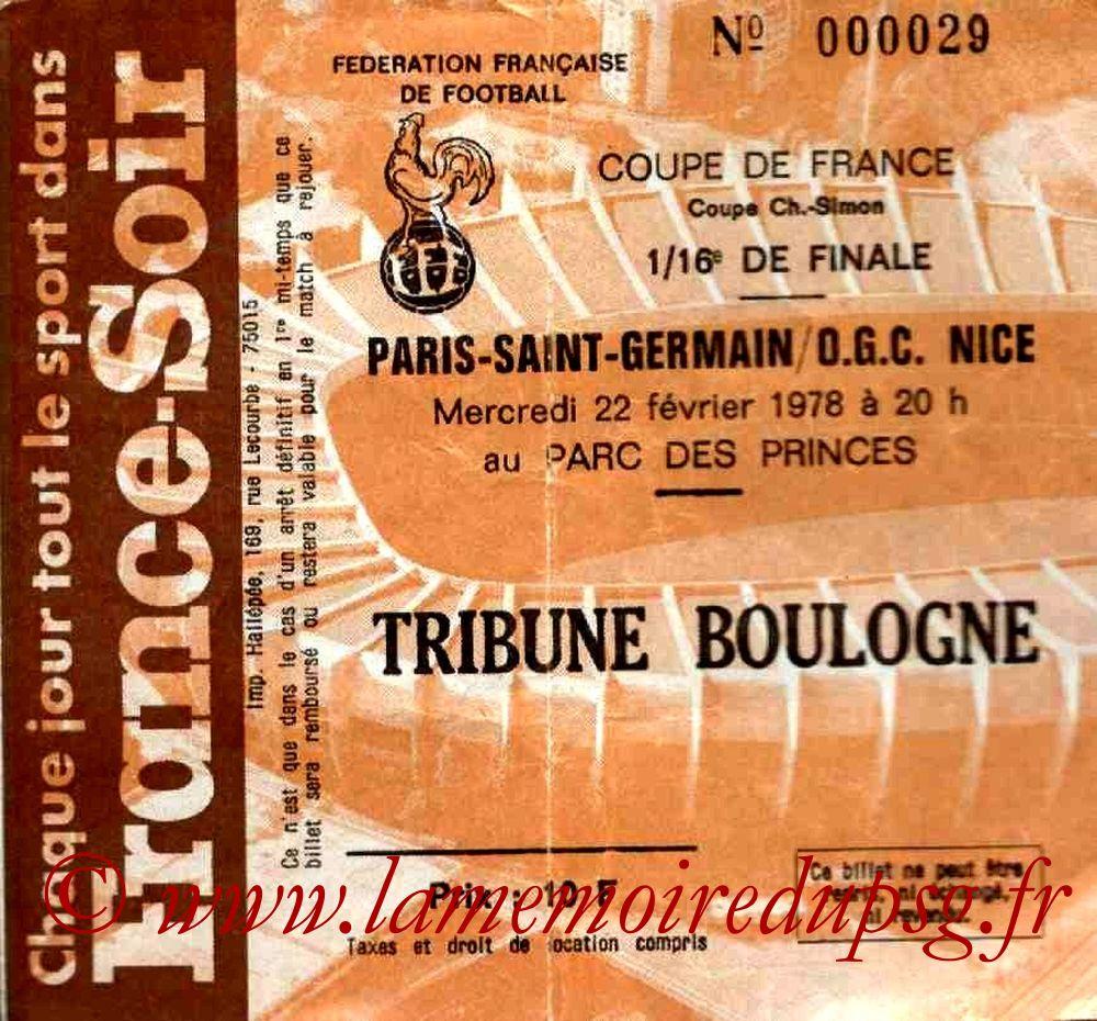 1978-02-26  PSG-Nice (16ème Finale Retour CF)