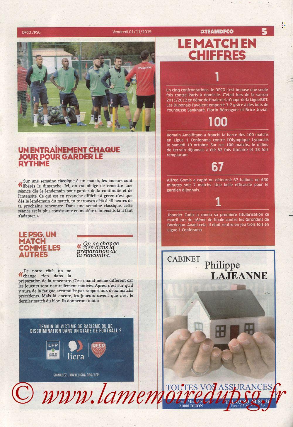 2019-11-01  Dijon-PSG (12ème L1, Chouett Infos) - Page 05
