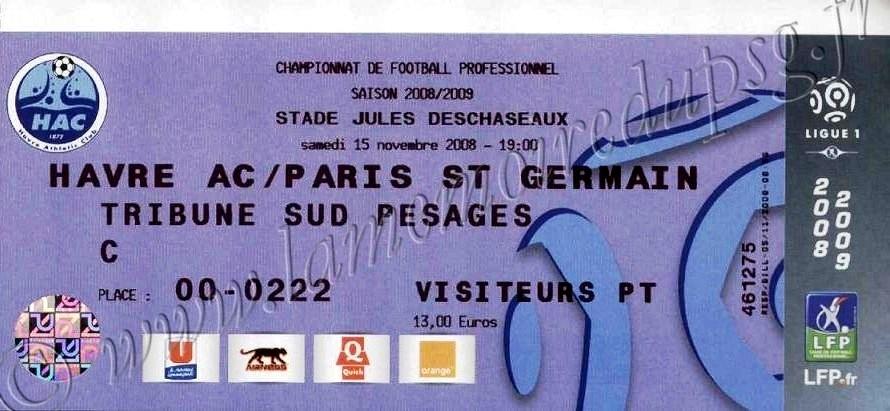 2008-11-15  Le Havre-PSG (14ème L1)