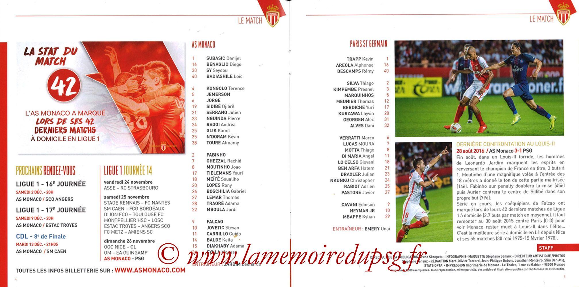 2017-11-26  Monaco-PSG (14ème L1, Match) - Pages 04 et 05