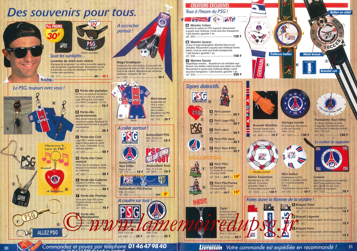 Catalogue PSG - 1997-98 - Pages 20 et 21