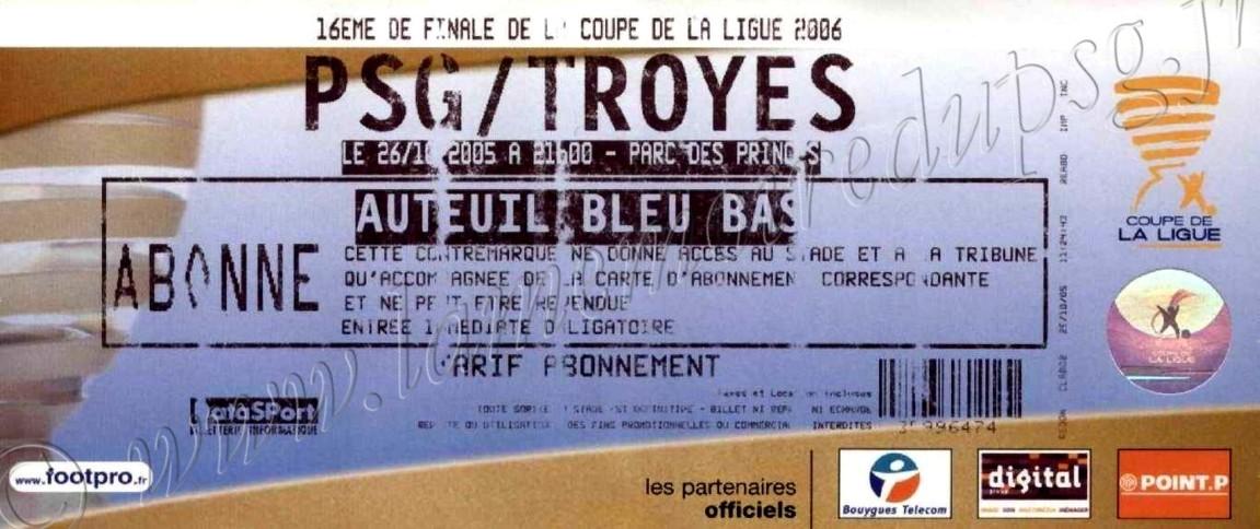 2005-10-26  PSG-Troyes (16ème Finale CL)