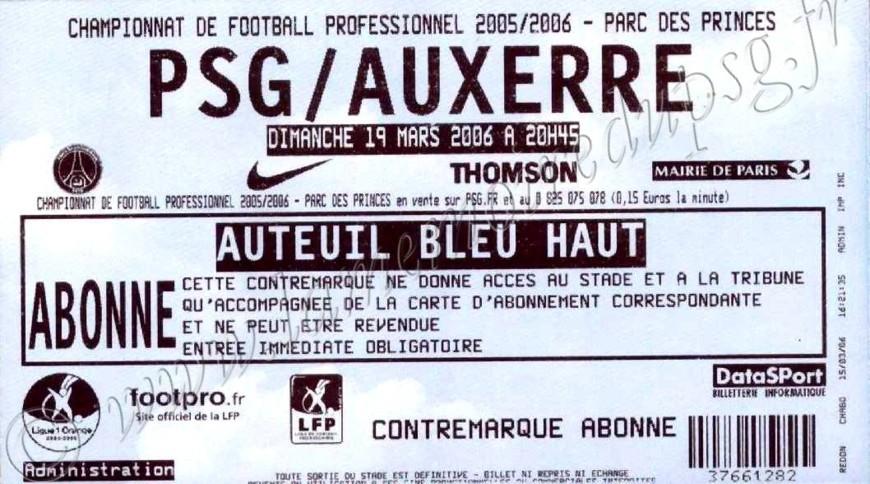 2006-03-19  PSG-Auxerre (31ème L1)