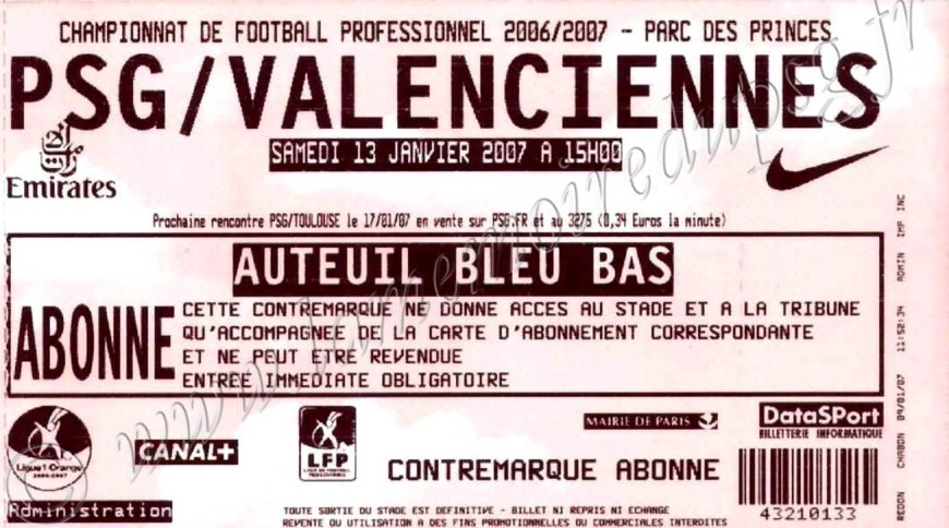 2007-01-12  PSG-Valenciennes (20ème L1)