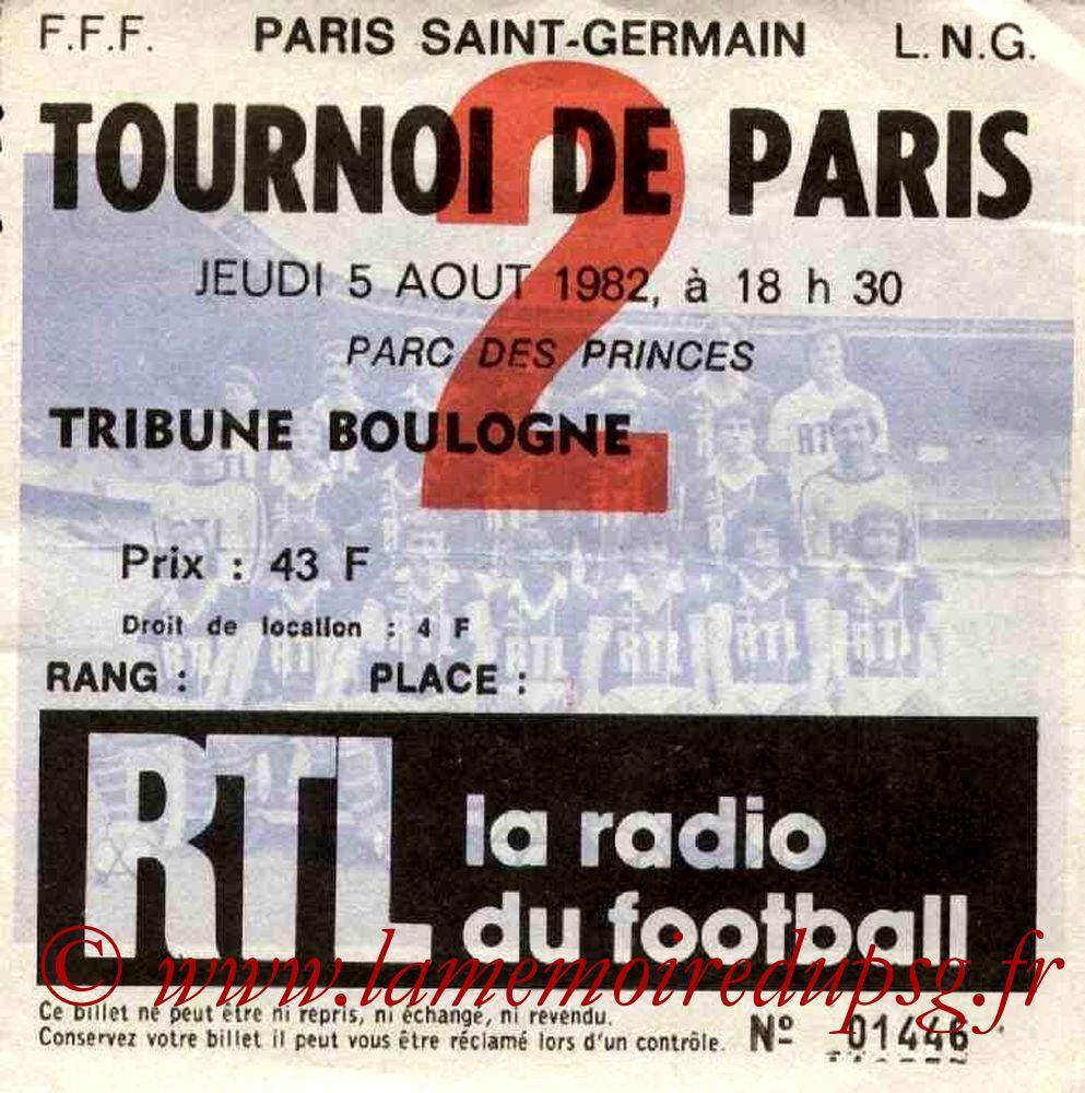 1982-08-05  PSG-FC Cologne (Finale Tournoi de Paris)