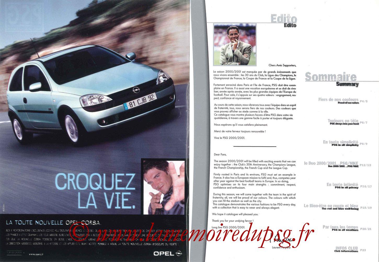 Catalogue PSG - 2000-01 - Pages 02 et 03