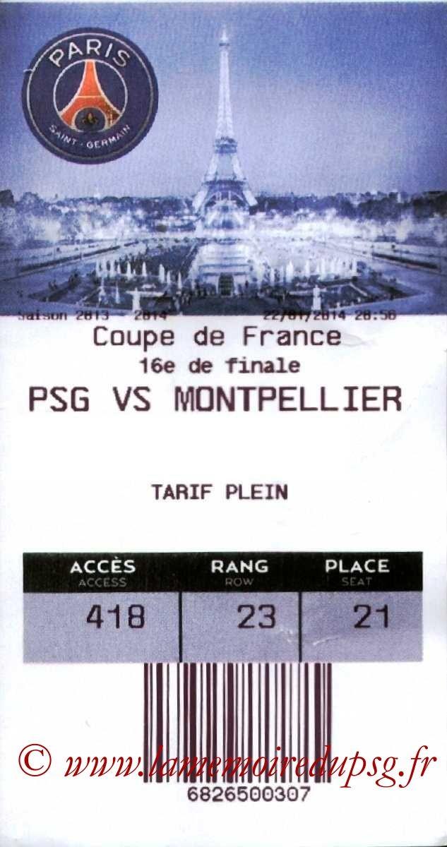 2014-01-22  PSG-Montpellier (16ème Finale CF, E-Ticket)