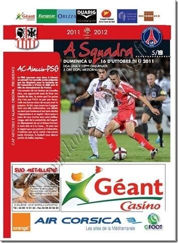 2011-10-16  Ajaccio-PSG (10ème L1, A Squadra N°5)