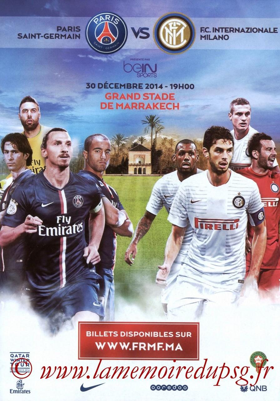 2014-12-30  Inter Milan-PSG (Amical à Marrakech, affichette)