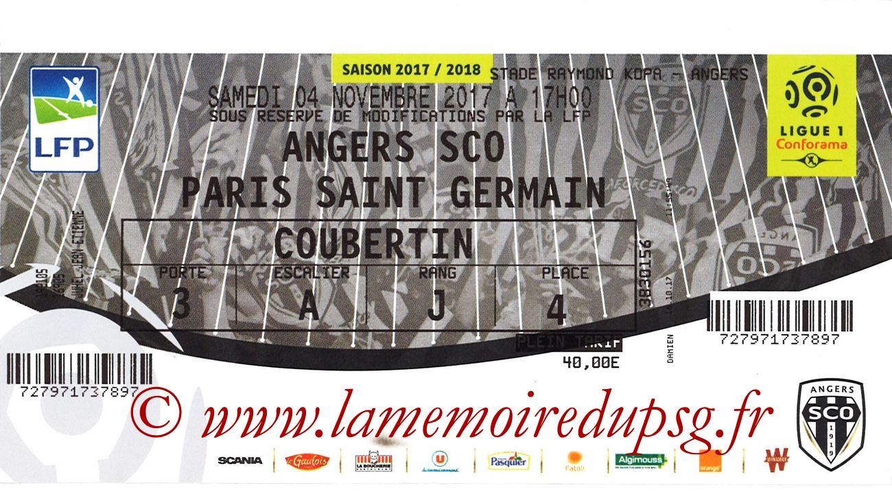 2017-11-04  Angers-PSG (12ème L1)
