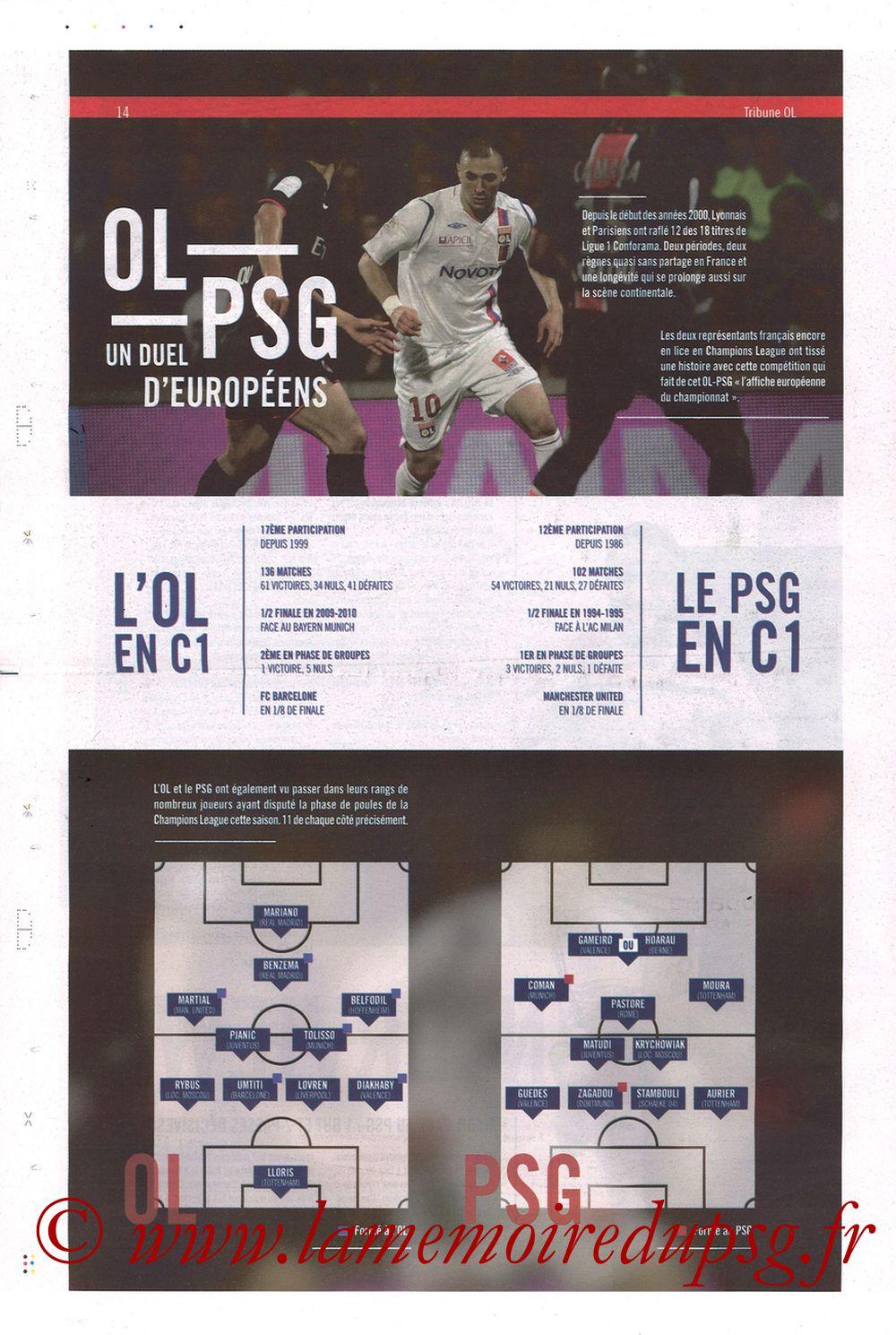 2019-02-03  Lyon-PSG (23ème L1, La Tribune OL N°270) - Page 14