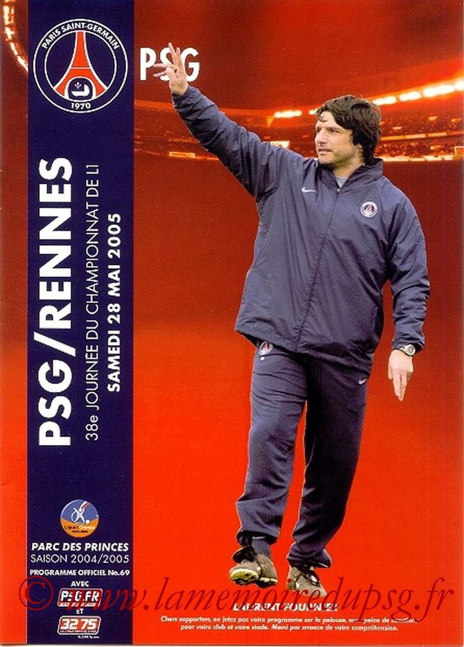 2005-05-28  PSG-Rennes (38ème L1, Officiel N°69)