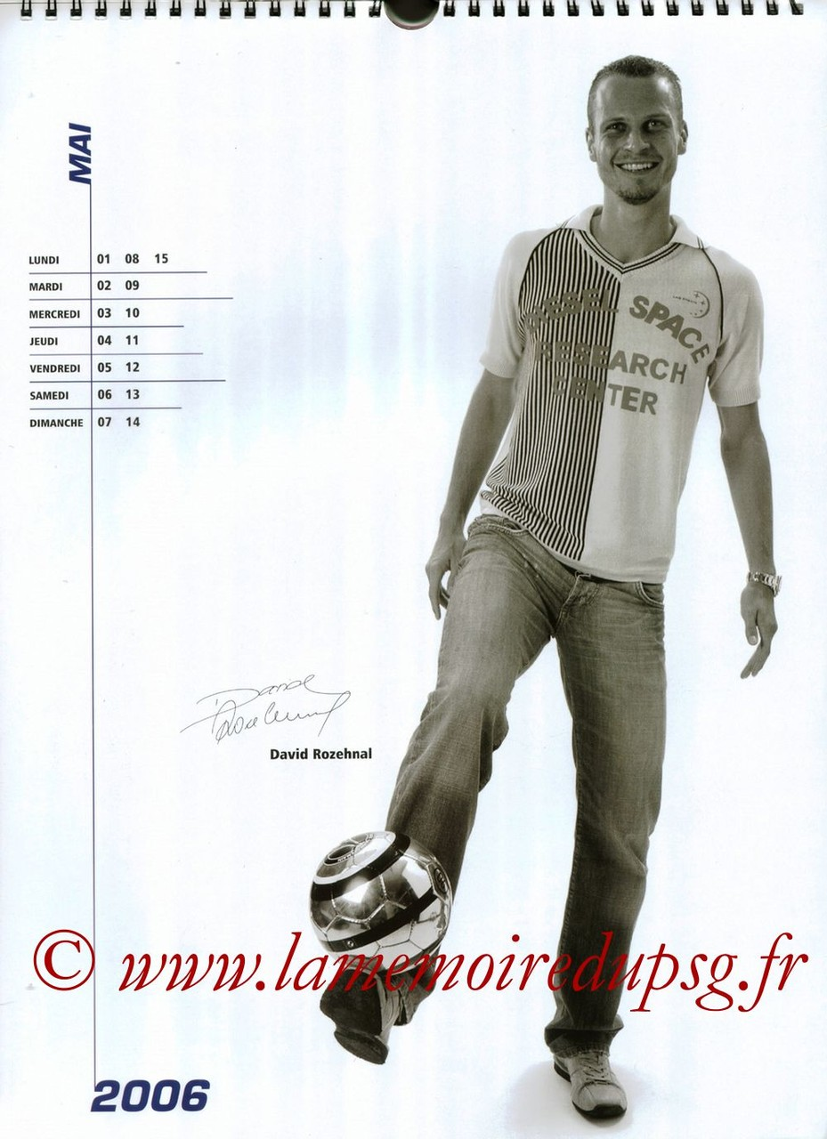Calendrier PSG 2006 - Page 09 - David ROZEHNAL