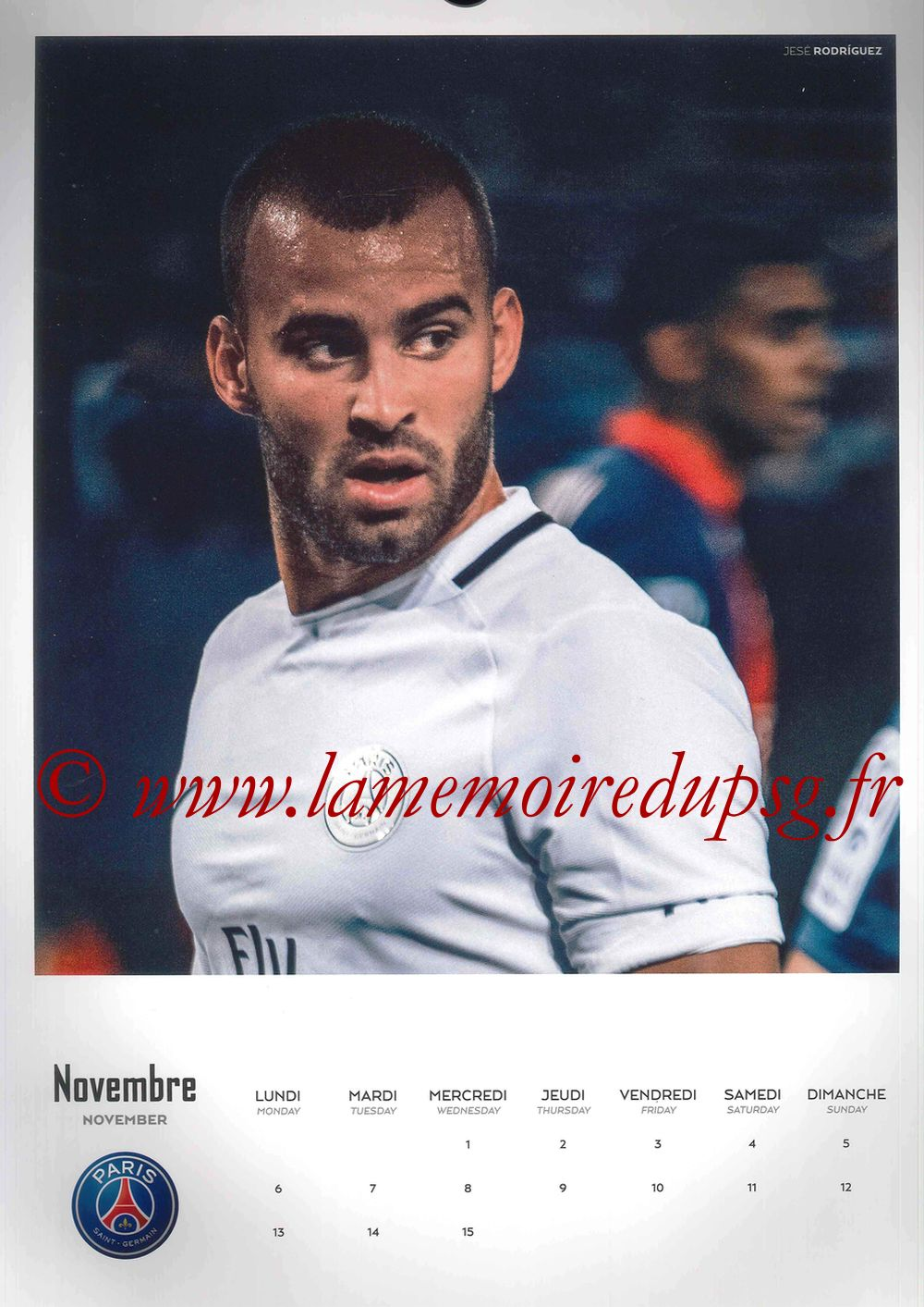 Calendrier PSG 2017 - Page 21 - JESE Rodriguez