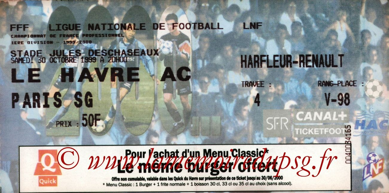 1999-10-30  Le Havre-PSG (13ème D1)