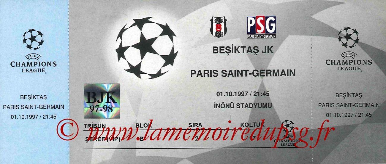 1997-10-01  Besiktas-PSG (2ème Journée Poule C1)