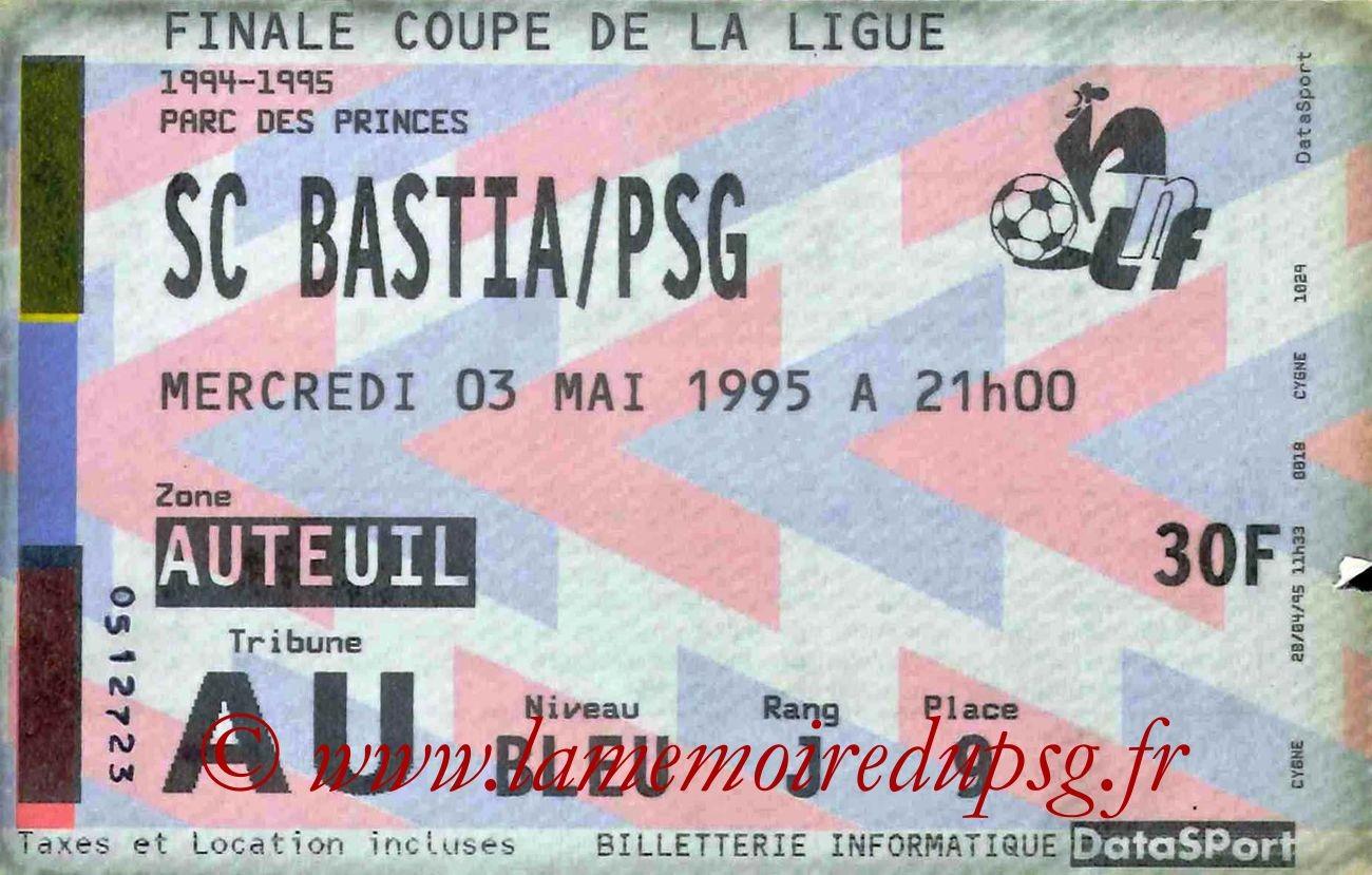 1995-05-03  PSG-Bastia (Finale CL au Parc des Princes)