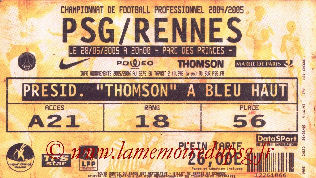 2005-05-28  PSG-Rennes (38ème L1, bis)