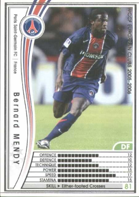 N° 115 - Bernard MENDY (Recto)