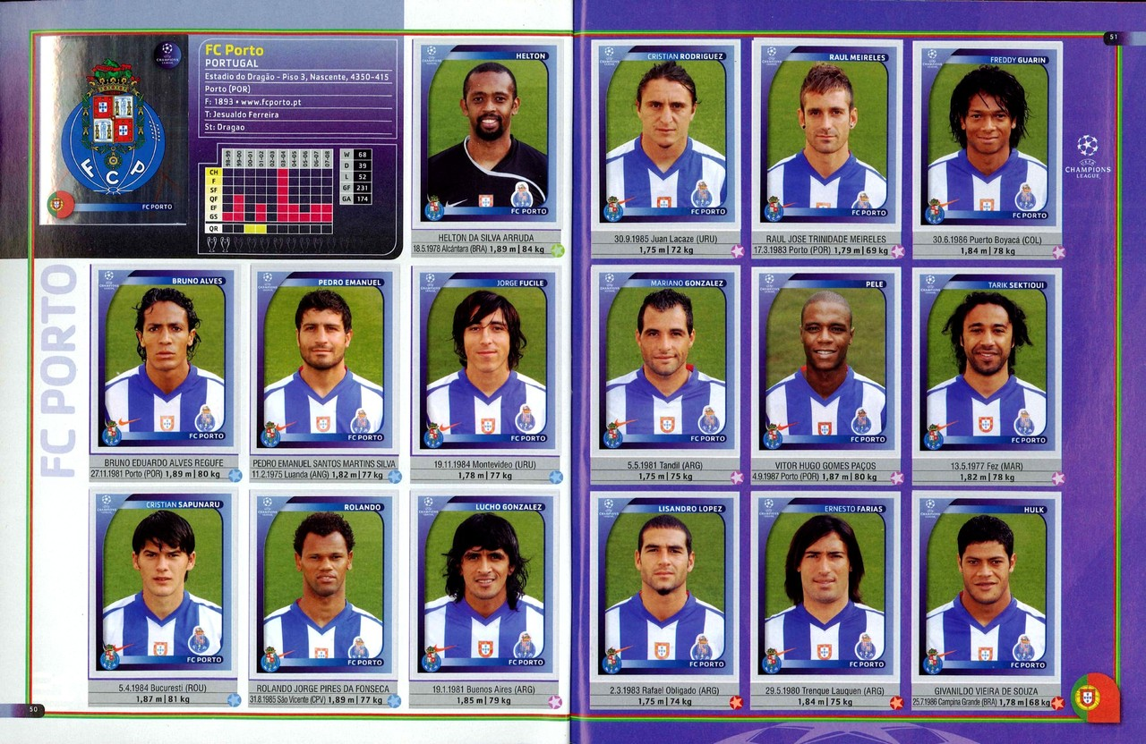 2008-09 - Panini Champions League - Pages 50 et 51 - FC Porto