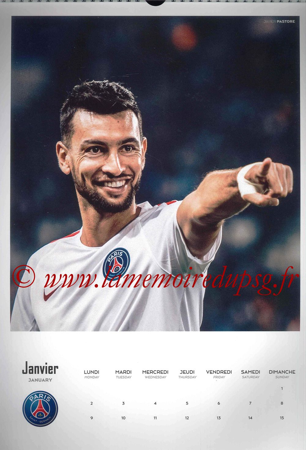 Calendrier PSG 2017 - Page 01 - Javier PASTORE